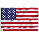 Lawn & Garden : Anley Fly Breeze 3x5 Foot American US Flag - Vivid Color and UV Fade Resistant - Canvas Header and Double Stitched - USA Flags Polyester with Brass Grommets 3 X 5 Ft