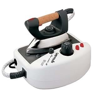 Polti Vaporella 3100R - Centro de planchado, vapor vertical, plancha profesional con suela de aluminio y mango de corcho