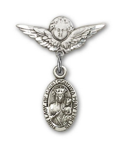 Icecarats Créatrice De Bijoux En Argent Sterling O / L De Czestochowa Charme Ange Pin Badge 7/8 X 3/4