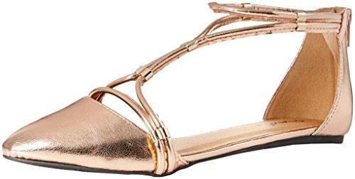Qupid Womens Swift-244x Balletto Piatto In Oro Rosa