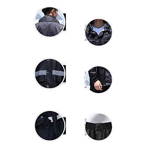 Men Rain Rainstorm per Raincoat Pants And XXXXL Geyao batterie motociclista Dimensione di da Set adulti Women Set C5X4dwnqx