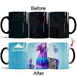 Fortnight Gift - 14 OZ Supply Llama Heat-sensitive Color Changing Mug, Unique Gift for Video Game Fans