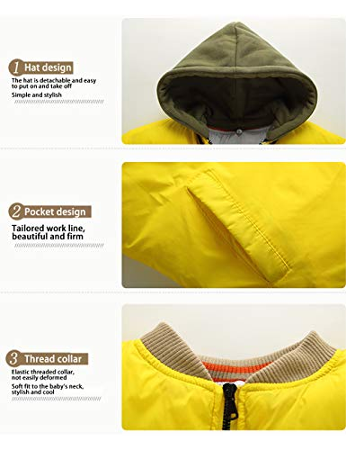 Casual Hooded Durable Jackets Girls Children Jacket Army Wear Cotton Coats Outerwear BESBOMIG Zipper Boys Green Daily Kids Afw4nOvq