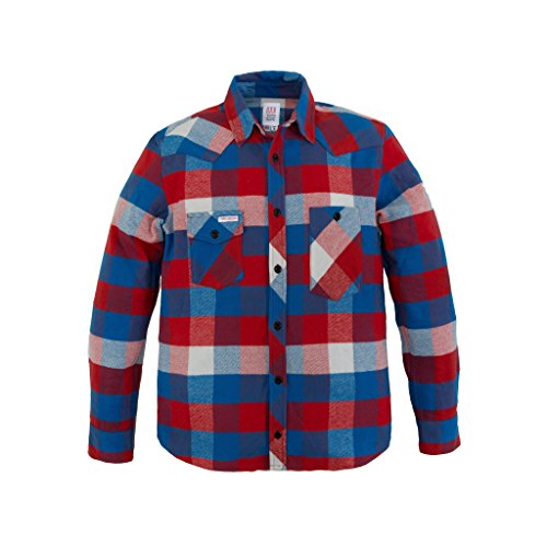 TOPO DESIGNS Work Shirt (X-large, Red/Blue)