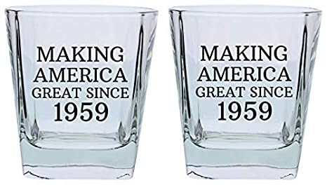 60th Birthday Gifts For Dad Mom Making America Great Since 1959 Party Supplies Square