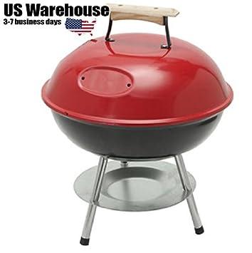 Shopidea - Parrilla plegable de carbón para picnic, barbacoa, barbacoa, cocina