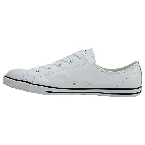 cheap Converse Women s Chuck Taylor Dainty Leather Low Top Sneaker White 11  M 451328599