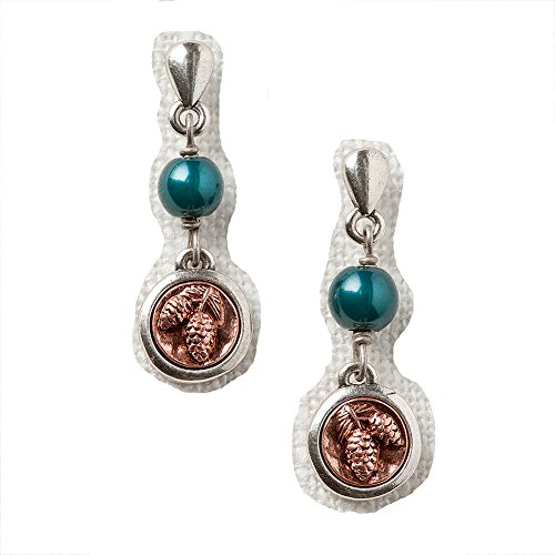 Big Sky Silver Expressions Vintage Pinecone Earrings in Gift Box