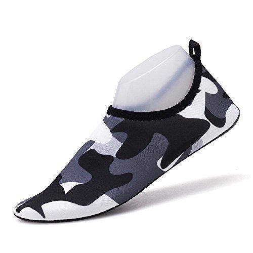 pegada Zapatos de playa secado cenizas zapatos natación descalzos calzado rápido luz zapatos de negras la y amantes Lucdespo piel natación SK14 pies wptEUqxt0