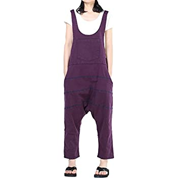 YYG Womens Casual Elastic Waist Plus Size Solid Flat-Front Jumpsuit Romper