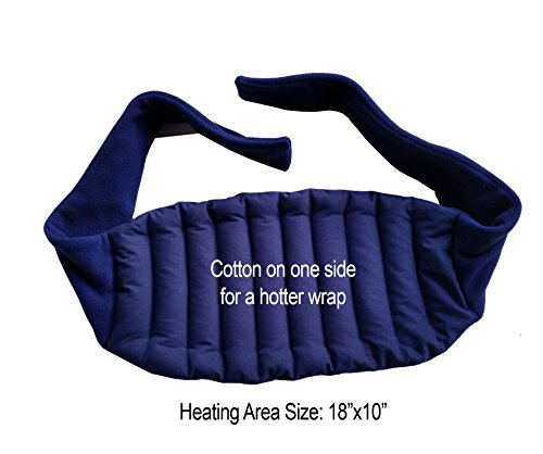 Microwavable Cotton Lower Back and Shoulder Joint Heat Wrap with Straps - Microwave For Pain Relief, Cordless, 18