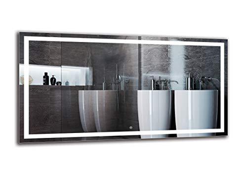 Espejo LED Deluxe - Dimensiones del Espejo 150x80 cm - Interruptor tactil - Espejo de bano con iluminacion LED - Espejo de Pared - Espejo con iluminacion - ARTTOR M1ZD-47-150x80 - Blanco frio 6500K