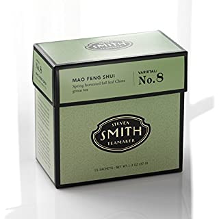 Smith Teamaker Mao Feng Shui Blend No. 8 (Full Leaf Green Tea), 1.3 oz, 15 Bags
