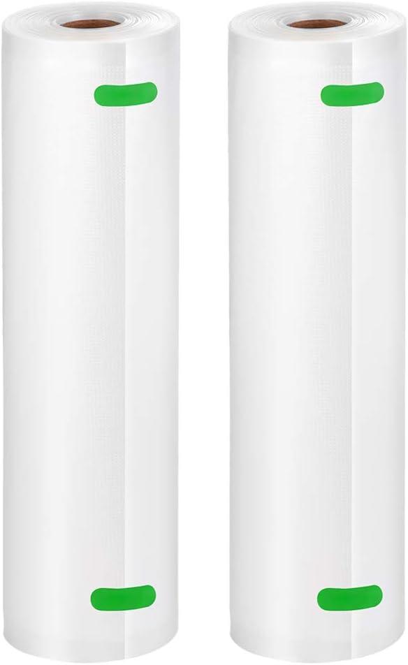 """Bifrecho Vacuum Sealer Bags, 2 Pack of 11"""" x 50' Food Saver Bags Rolls, Food Storage Bags for Vacuum Sealer Machines, Sous Vide, Total 100 Feet in 11 Inch"""
