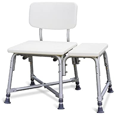 Medline Bariatric Heavy Duty Medical Transfer Bench, with Adjustable Height and 6 Heavy Duty Supporting Legs for Extra Stability