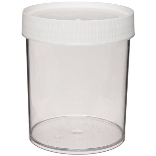 Nalgene 2116-0015 Polycarbonate 15mL Wide-Mouth Straight-Sided Jar (Pack of 4) ()