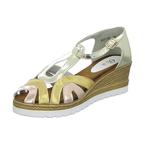 R´s 6317-KL Damen Sandalette Gelb (Gold)