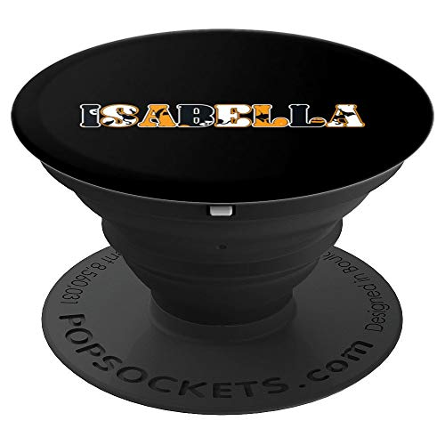 Isabella Spooky Name Halloween Gift PopSockets Grip and Stand for Phones and Tablets -