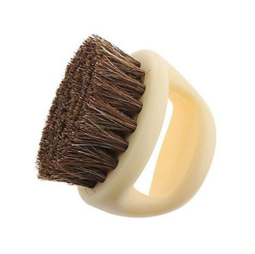 Yevison Horseshoe Shape Horse Hair Soft Shoe Brush Beige High Quality by Yevison