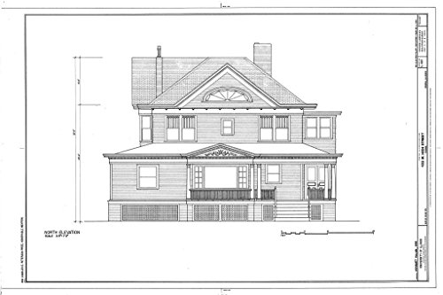 Blueprint Diagram HABS Ill,72-PEOR,5- (Sheet 1 of 1) - 423 West High Street, Peoria, Peoria County, IL 12in x 08in ()