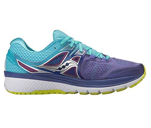 Saucony Women's Triumph Iso 3 Running Shoe, Purple/Blue/Citron, 9.5 M US