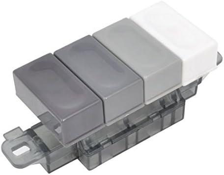Aexit - Campana extractora de cocina AC serie 250 V 1A 4 botones rectangulares 3 posiciones interlock 1 Reset tipo teclado conmutadores gris blanco: Amazon.es: Bricolaje y herramientas