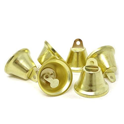 Craft Liberty Bell - Honbay 20PCS 38mm/1.5inch Shiny Gold Liberty Bells Decor Bells