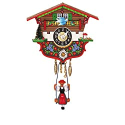 Mechanical Swinging Doll Clock Miniature, 5 Inch