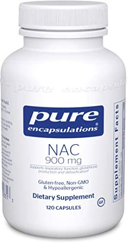 Pure Encapsulations – NAC 900 mg – Amino Acid Derivative to Support Respiratory Function, Glutathione Production, and Detoxification* – 120 Capsules