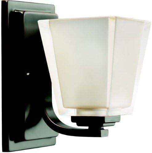 Kichler Lighting 5459OZ 1-Light Urban Ice Incandescent Bath Light, Old Bronze