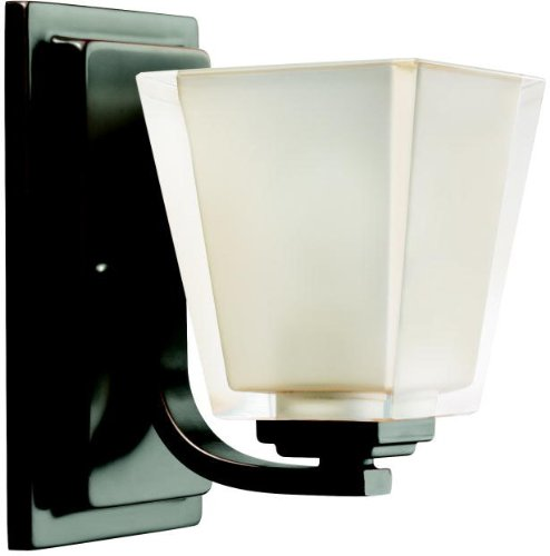Kichler Lighting 5459OZ 1-Light Urban Ice Incandescent Bath Light, Old Bronze