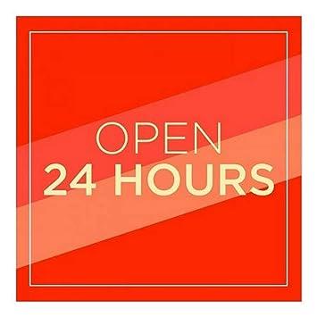 CGSignLab Open 24 Hours 24x24 5-Pack Modern Diagonal Window Cling