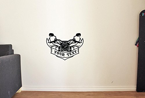 ResorvDecals Personalized Chopper Logo Biker Custom Name Motorcycle Moto Vinyl Wall Decals Bike Motorbike Man Cave Garage Vinyl Decor Stickers - Chopper Biker Custom