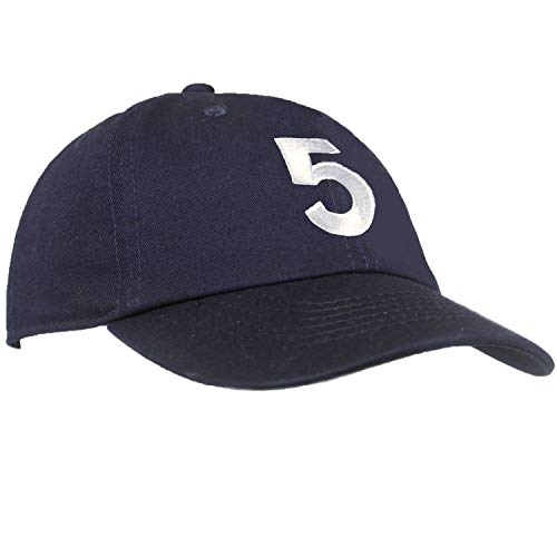 Tiny Expressions - Monogrammed Toddler & Kids Baseball Cap | Adjustable Navy Hat (5, 2-6yrs)