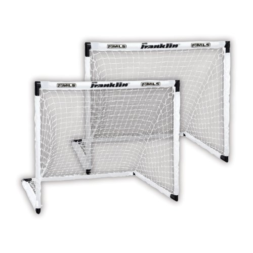 Franklin Sports MLS Two Soccer Goal Set - 54 x 36 Inch Goal Net Set