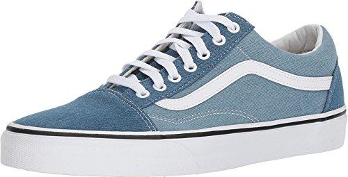 - Vans Unisex Old Skool Denim 2-Tone Blue/True White Sneaker - 13