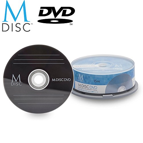 15 Pack Millenniata M-Disc DVD 4.7GB 4X HD 1000 Year Permanent Data Archival / Backup Blank Media Recordable Disc by Millenniata Inc.