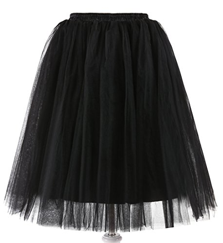 Swing Au Fnkscraft® Années Jupons 5 Genou Jupes Couches Rockabilly 51 Tutu 6655 Filles Pd 50 zqrwqT