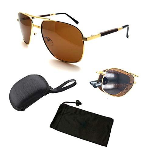Compact Pocket Portable Polarized Lenses Metal Aviator Wired Folding Sunglasses Eye Glasses for Men Women