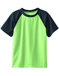 Boys' Short Sleeve UPF 50+ Rashguard Swim Shirt