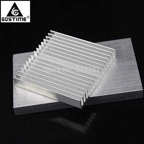 Gdstime 60x60x10mm Aluminum HeatSink for Chip CPU GPU LED IC Heat Sink Radiato Cooler Cooling