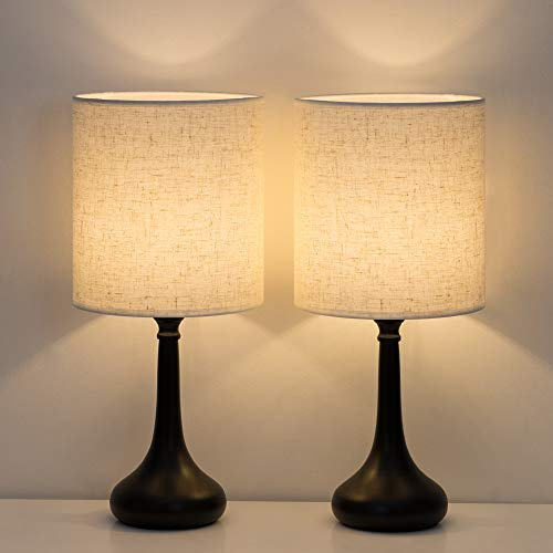 Haitral Bedside Table Lamps Set Of 2 Modern Nightstand