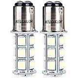 HOTSYSTEM LED Light Bulbs 1157 BAY15D P21/5W 2357 7528 18-5050 SMD for Car RV SUV Camper Trailer Trunk Interior Reversing Backup Tail Turn Signal Parking Side Marker Lights(CoolWhite,Pack of 2)