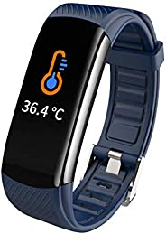 Dogfish Smart Watch Fitness Tracker Surport Body Temperature Measurement with Heart Rate Sleep Monitoring,Ultr