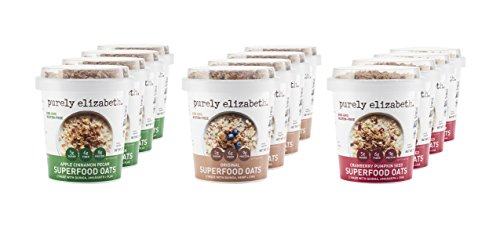 purely elizabeth, New Oats Single Serve Cups, Superfood, Variety Pack, 12 Count
