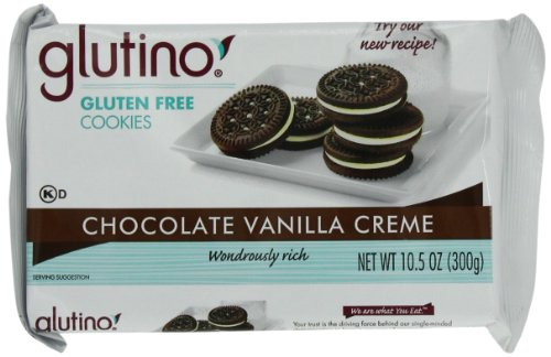 Glutino Chocolate Vanilla Creme Dream Cookies, 10.5-OunceBoxes (Pack of 6) ()