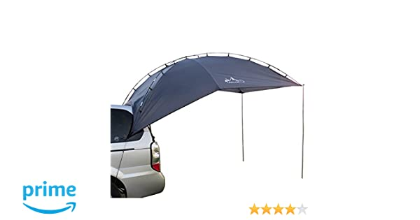 HUKOER Carpa plegable de coche para acampada al aire libre, Camping Carpa de techo para la trasera de coche: Amazon.es: Deportes y aire libre