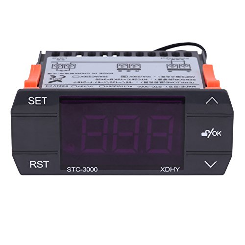 Walfront STC-3000 110V-220V Touch Digital Temperature Controller Thermostat with (Set Digital Temperature Control System)