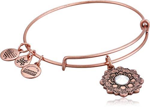 Alex and Ani Womens Mother of The Bride Bracelet, Rafaelian Antique Rose, Expandable