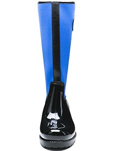 Waterproof TONGPU Snow Boots TONGPU Womens Blue Boots Womens Patchwork Rain nxUYTWn7